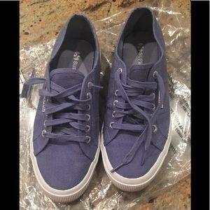 Superga Purple Canvas Sneakers